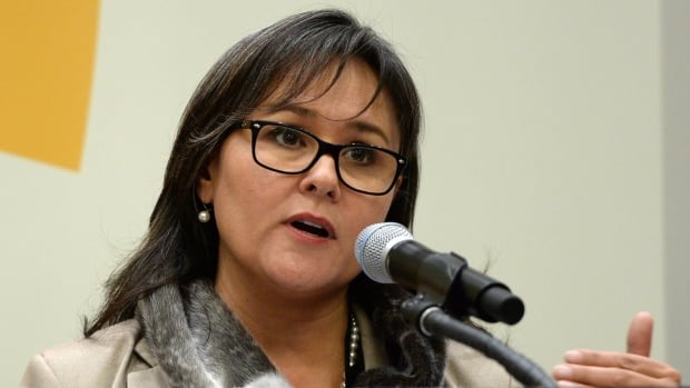 Environment Minister Leona Aglukkaq speaks at the UN Climate Summit at the United Nations in New York Tuesday.