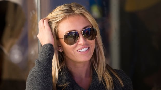 Paulina Gretzky is seen at the Canadian Open golf tournament at the Glen Abbey Golf Club in Oakville, Ont., in 2013.