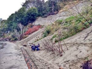 Wreck Beach cliffs