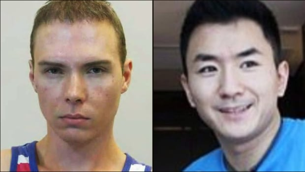 Luka Magnotta, left, has admitted to the acts underlying the five criminal offences he's charged with, including the killing of 33-year-old university student Jun Lin.