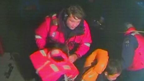 Coast guard rescue of children from Porlier Pass - Sept. 29, 2014