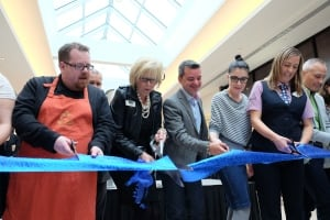 Polo Park mall expansion ribbon cutting