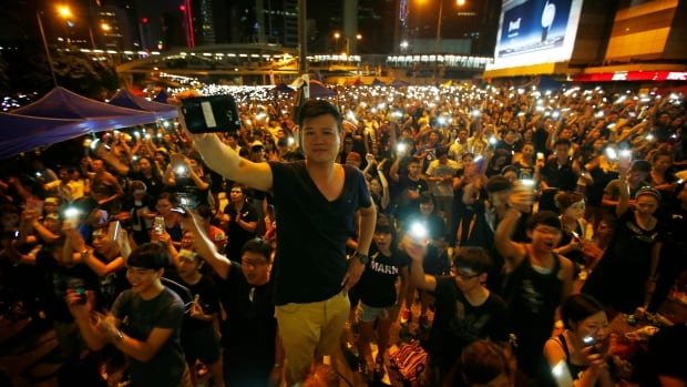 Hong Kong protest organizers encouraged demonstrators to download the FireChat app after hearing rumours that the government would shut down cellphone networks in the protest area.