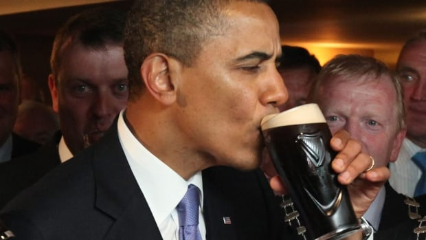 The U.S. Environmental Protection Agency is trying to change a rule that regulates bodies of water, pitting beer brewers against farmers in the resulting debate. Brewers are hoping President Barack Obama, seen drinking Guinness in Ireland in 2011, will side with them.