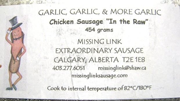 """Calgary-based Missing Link Extraordinary Sausage is recalling four products over E. coli contamination concerns, including """"In the Raw"""" chicken sausage."""