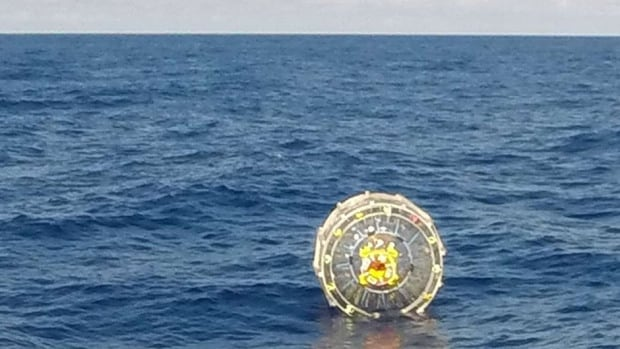A marathon runner attempting a crossing from Florida to Bermuda inside an inflatable bubble was rescued after succumbing to exhaustion about 130 km east of St. Augustine, the U.S. Coast Guard said.
