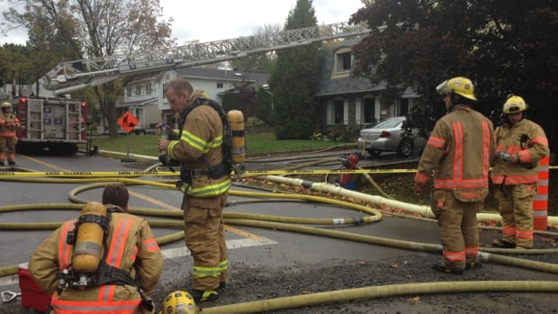 Firefighters managed to contain the flames to the basement of the home on the corner of Beacon Hill Road and Southgate Street.