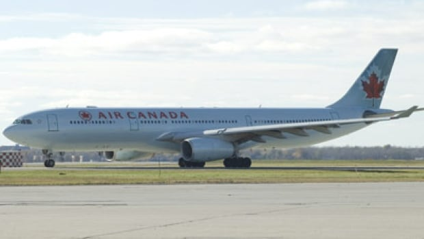 A wheel from the left main gear of an Air Canada Airbus 330 aircraft, like the one seen here, drove off the runway.
