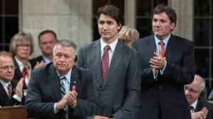 Liberal Leader Justin Trudeau votes against ISIS motion