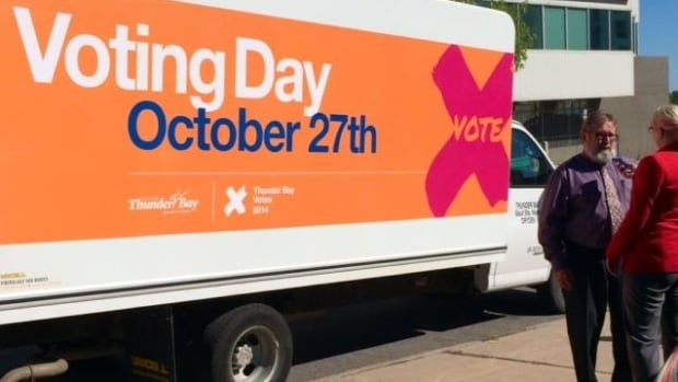 The mobile voting unit is back for the second time in Thunder Bay.