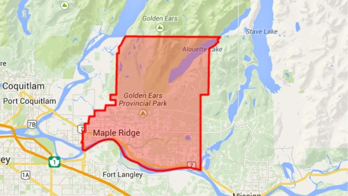 Map Of Maple Ridge Bc