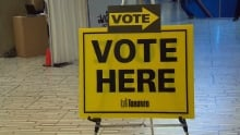 Toronto 'Vote Here' sign