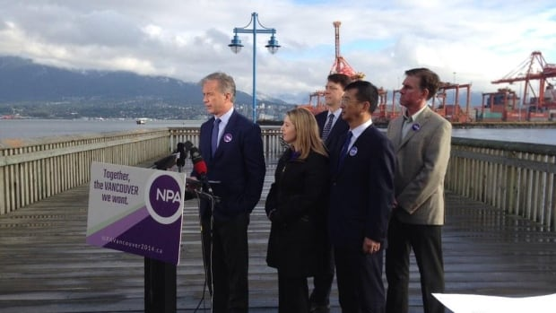 NPA mayoral candidate Kirk LaPointe delivers his economic platform, Tuesday October 14.