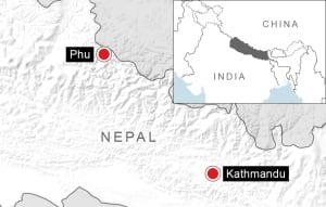 Location of the Nepal avalanche