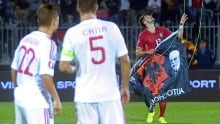 Drone from Serbia-Albania soccer match found by police