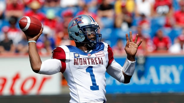 The Montreal Alouettes are short a quarterback after releasing Troy Smith Thursday.