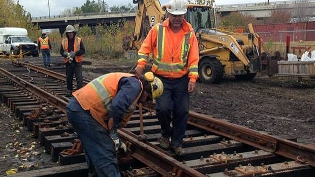 CP workers accidentally tore up plants and other vegetation at the park while creating a staging area to construct sections of track.