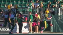 Eskimos wrap up Roughriders, secure second place