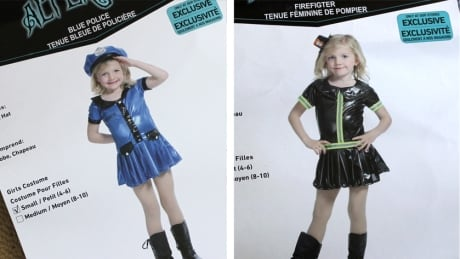 Sexy Halloween costumes for kids - police and firefighter 4-6