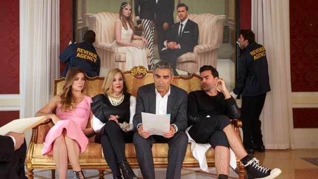 Annie Murphy, Catherine O'Hara, Eugene Levy and Daniel Levy star in the new CBC comedy Schitt's Creek, about a formerly rich family forced to move to a small, depressing town they once bought as a joke.