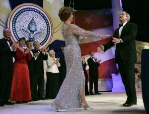 Laura Bush and U.S. President George W. Bush