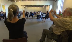 Group of people in various stages of parkinson s took part in a