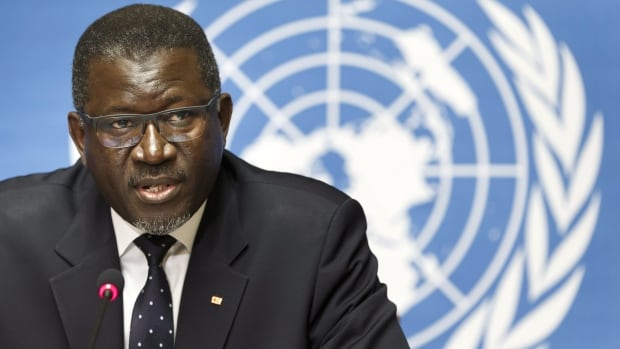 Secretary General of the International Federation of Red Cross and Red Crescent Societies Elhadj As Sy, pictured here in August, said Wednesday that calls for a ban on travel from West Africa amid the Ebola outbreak do not make sense.