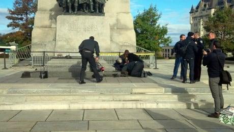 War memorial shooting