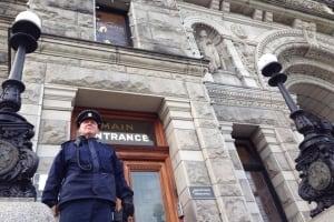 Guard outside B.C. legislature