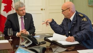 PMO Oct 22 2014 Ottawa shooting Harper and RCMP head Bob Paulson