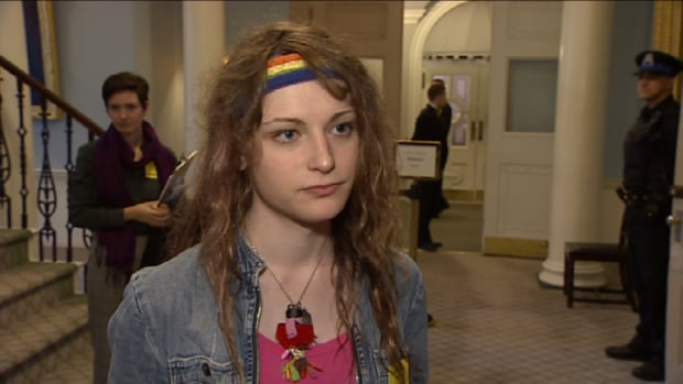 Jessica Durling gathered signatures for a petition to change the Vital Statistics Act. She says the proposed changes show there is government support for the transgender community.
