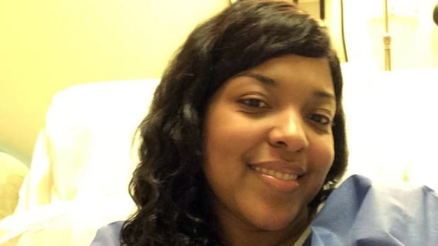 This Oct. 21, 2014 photo provided by Amber Vinson shows the Dallas nurse at Emory University Hospital in Atlanta. Officials said the hospital couldn't detect Ebola in Vinson as of Tuesday evening, and she was cleared of the virus on Friday.
