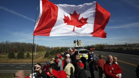 Ottawa Shooting 20141024 Oct 24 Hwy of Heroes Cpl Cirillo passing