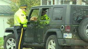 RCMP traffic stop in schools zones in Pasadena