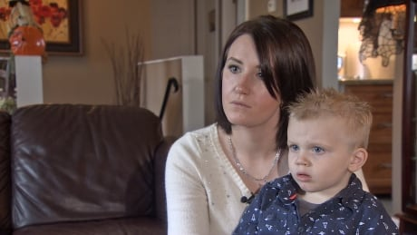 McDonald's PlayPlace syringe found - Carley Rempel and son Knox