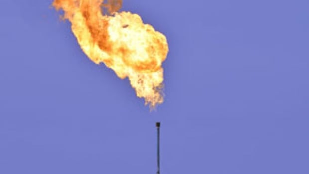 This is an example of what a flare from a flare-stack looks like.