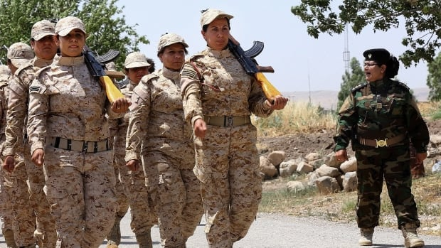 These elite female Kurdish Peshmerga fighters have played a major role in battles against ISIS, according to a defence official in Syria's Kurdish region.