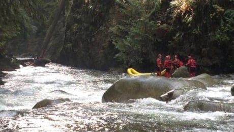 Lynn Creek rescue underway after woman jumps into creek to save dog