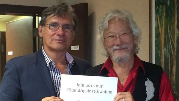 Grand Chief Matthew Coon Come and environmental activist David Suzuki launch the  #StandAgainstUranium social media campaign.