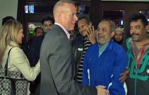 Jon Burnside celebrates win in Ward 26