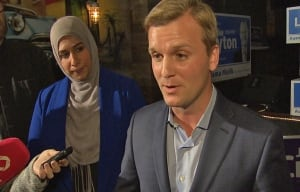 Joe Cressy after election win