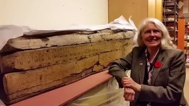 Gayle Gibson, an Egyptologist who teaches at the Royal Ontario Museum in Toronto, was the person who originally nicknamed the mummy Justine. She managed to decipher Justine's real name last week.