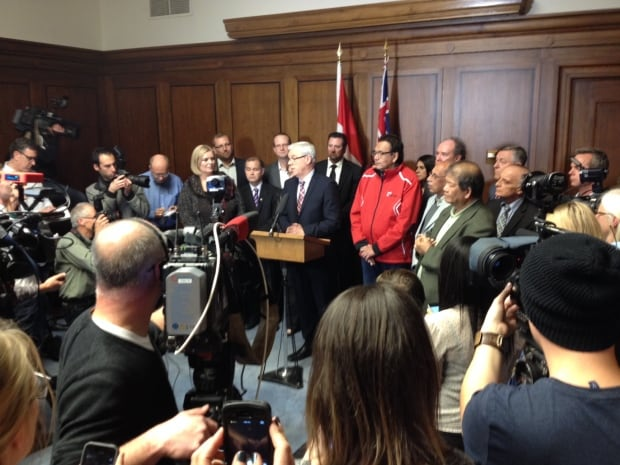 Greg Selinger with MLAs - Oct. 28, 2014