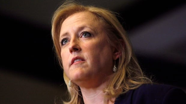 Transport Minister Lisa Raitt says diagnostic imaging and blood tests suggest the growth is not cancerous but she won't know for sure until it is removed and analysed.