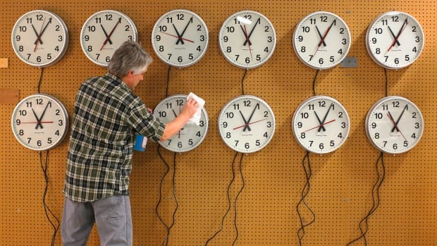 Daylight saving time ends at 2 a.m. on Sunday in most of Canada.