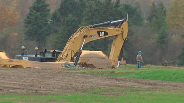The provincial government has halted work on this portion of the $100 million Alton Gas Storage project.