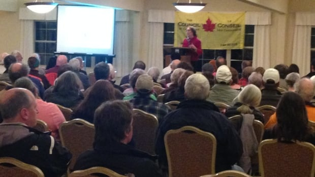 The Council of Canadians held a meeting Wednesday in Saint John to raise opposition against the planned Energy East Pipeline