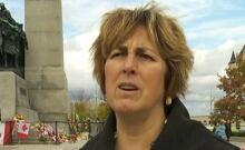 NDP MP Carol Hughes shootings one week later National War Memorial Oct 29 2014