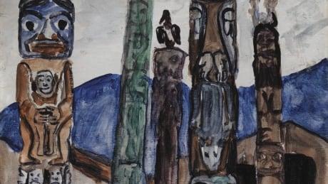 Emily Carr, Totem Poles, Kitwancool Village