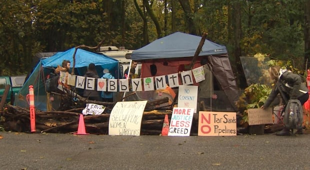 Kinder Morgan protest camp
